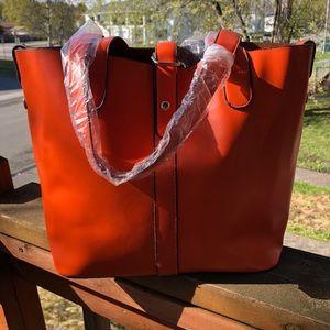 Handbags - SUMMER ORANGE TOTE
